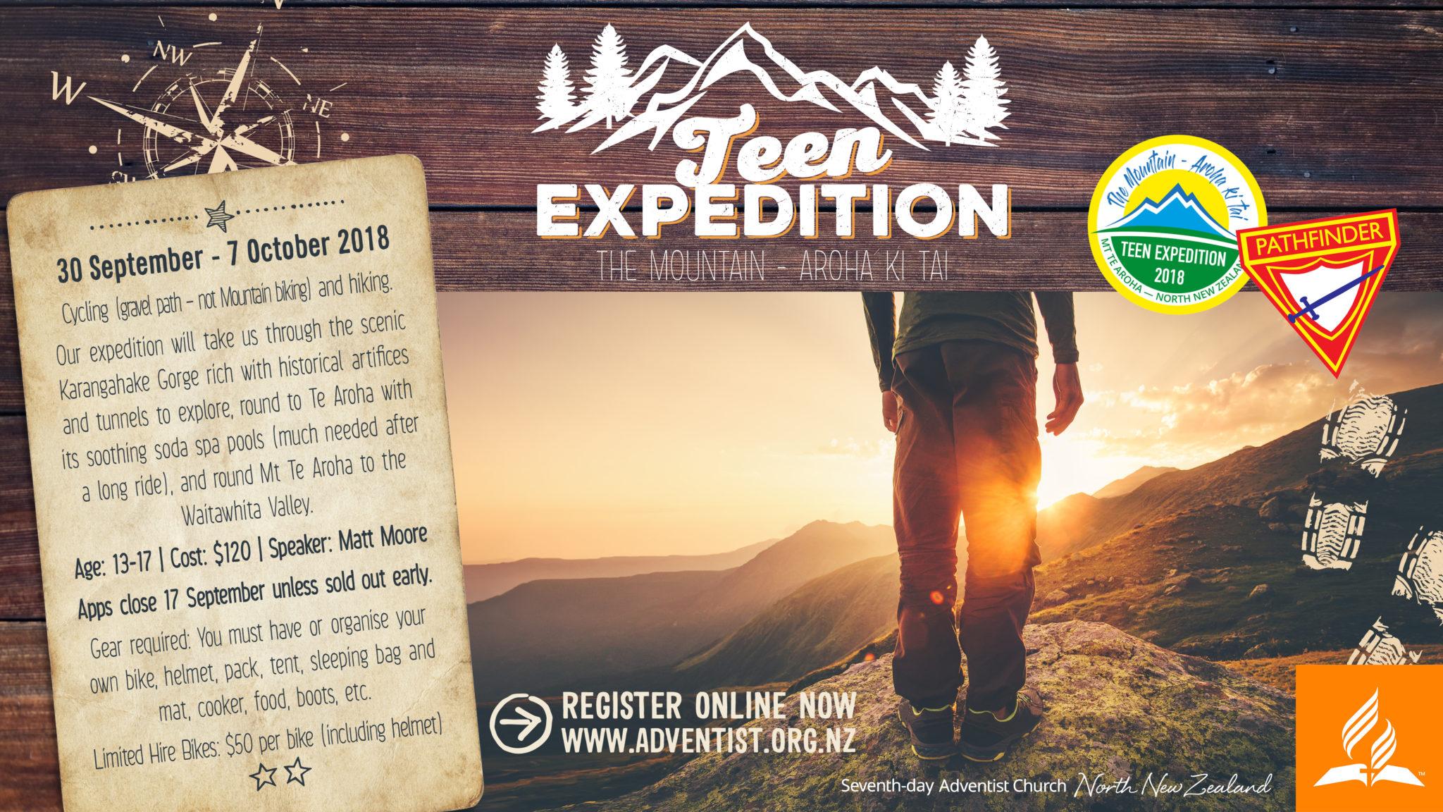 Teen Expedition 2018 - North Island @ The Mountain - Aroha Ki Tai