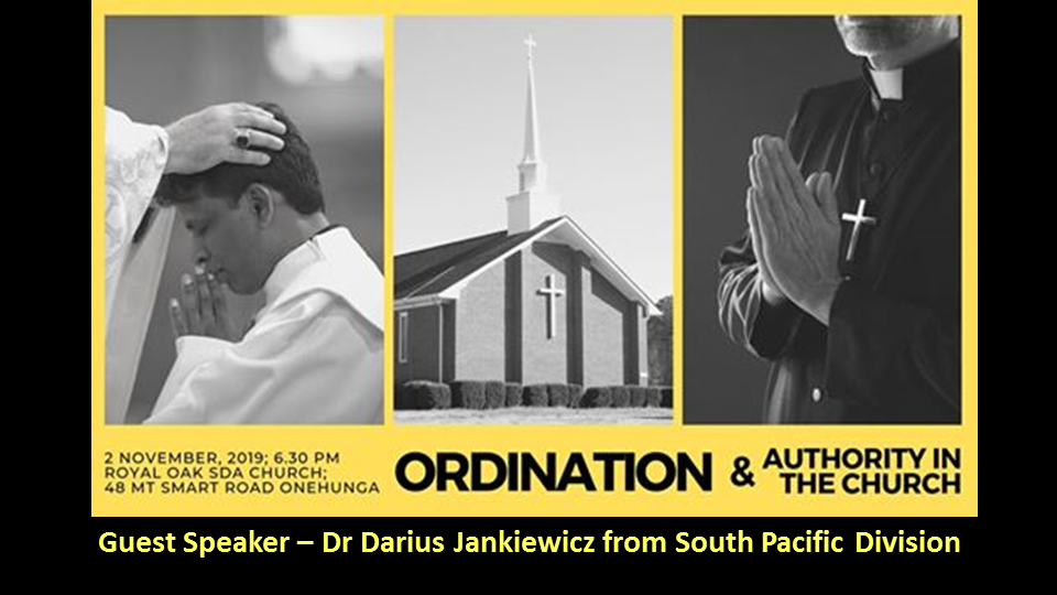 Special Presentation: Ordination & Authority in the Church @ Royal Oak Seventh-day Adventist Church